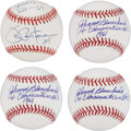 Autographs:Baseballs, New York Yankees Single Signed Baseballs Lot of 4. ... (Total: 4items)