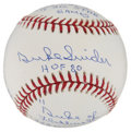 Autographs:Baseballs, Duke Snider Single Signed Stat Baseball. ...