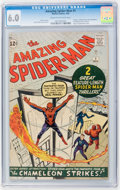 Silver Age (1956-1969):Superhero, The Amazing Spider-Man #1 (Marvel, 1963) CGC FN 6.0 Cream to off-white pages....