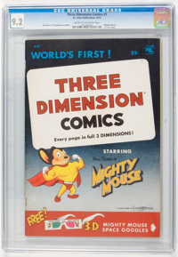 Mighty Mouse 3-D #1 (1st print) (St. John, 1953) CGC NM- 9.2 Cream to off-white pages