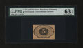 Fractional Currency:First Issue, Fr. 1231sp 5¢ First Issue Narrow Margins Back Specimen PMG Choice Uncirculated 63 EPQ....