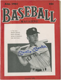 "Autographs:Others, Mickey Mantle Signed ""Baseball Magazine.""..."