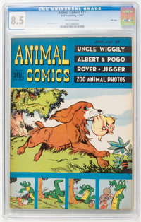 Animal Comics #27 File Copy (Dell, 1947) CGC VF+ 8.5 Off-white pages