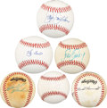 Autographs:Baseballs, Baseball Stars Signed Baseballs Lot of 6. ...