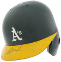 Autographs:Others, Rickey Henderson Signed Batting Helmet. ...