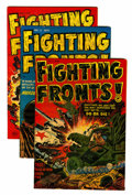 Golden Age (1938-1955):War, Fighting Fronts! #1-5 File Copies Group (Harvey, 1952-53)Condition: Average VF.... (Total: 5 Comic Books)