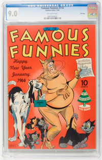 Famous Funnies #114 File Copy (Eastern Color, 1944) CGC VF/NM 9.0 Off-white pages