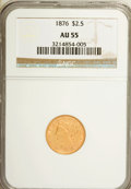 Liberty Quarter Eagles: , 1876 $2 1/2 AU55 NGC. NGC Census: (17/49). PCGS Population (4/15).Mintage: 4,100. Numismedia Wsl. Price for NGC/PCGS coin ...