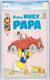 Baby Huey and Papa #1 File Copy (Harvey, 1962) CGC NM/MT 9.8 Off-white to white pages