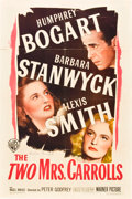 """Movie Posters:Film Noir, The Two Mrs. Carrolls (Warner Brothers, 1947). Autographed OneSheet (27"""" X 41"""").. ..."""