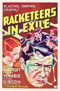"""Movie Posters:Crime, Racketeers in Exile (Columbia, 1937). One Sheet (27"""" X 41"""") Style A.. ..."""