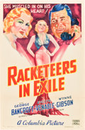 "Movie Posters:Crime, Racketeers in Exile (Columbia, 1937). One Sheet (27"" X 41"") StyleB.. ..."