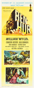 "Movie Posters:Historical Drama, Ben-Hur (MGM, 1959). Insert (14"" X 36"") Academy Award Style.. ..."