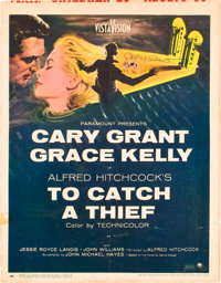 "To Catch a Thief (Paramount, 1955). Autographed Window Card (14"" X 18"")"