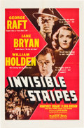 """Movie Posters:Crime, Invisible Stripes (Warner Brothers, 1939). One Sheet (27"""" X 41"""")....."""
