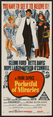 """Pocketful of Miracles (United Artists, 1962). Australian Daybill (13"""" X 30""""). Comedy"""
