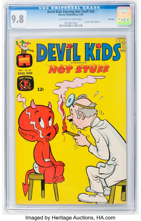 Devil Kids Starring Hot Stuff #24 File Copy (Harvey, 1966) CGC NM/MT 9.8 Off-white to white pages....