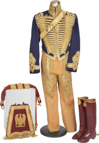 Magnificent British Hussar Officer's Uniform, Circa 1888. The blue wool dolman, the tight inner jacket, is covered in
