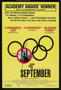 """One Day in September (Sony Pictures Classics, 2000). One Sheet (27"""" X 40"""") SS. Documentary"""