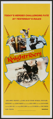 "Knightriders (United Artists, 1981). Australian Daybill (13"" X 30""). Action"