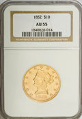 Liberty Eagles: , 1852 $10 AU55 NGC. NGC Census: (123/126). PCGS Population (17/37).Mintage: 263,106. Numismedia Wsl. Price for NGC/PCGS coi...