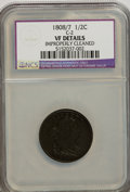 Half Cents, 1808/7 1/2 C --Improperly Cleaned--NCS. VF Details. ...