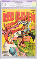 Golden Age (1938-1955):Superhero, Red Raven Comics #1 (Timely, 1940) CGC Apparent VF- 7.5 Slight (P)Cream to off-white pages....