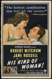 "His Kind of Woman (RKO, 1951). One Sheet (26"" X 41""). Crime"