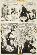 Original Comic Art:Panel Pages, Bernie Wrightson Swamp Thing #8 page 9 (with a PencilPreliminary) Original Art (DC, 1974).... (Total: 2 Items)