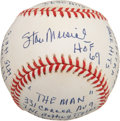 Autographs:Baseballs, Stan Musial Single Signed Stat Baseball. ...