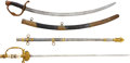 Military & Patriotic:Indian Wars, A Lot of Two Swords.... (Total: 2 Items)