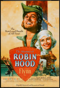 "Movie Posters:Adventure, The Adventures of Robin Hood (Warner Brothers, R-1989). One Sheet(27"" X 40""). Adventure.. ..."