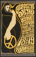 "Movie Posters:Rock and Roll, Grateful Dead Concert Poster (Bill Graham Productions, 1966).Window Card (14"" X 22""). Rock and Roll.. ..."