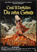 "Movie Posters:Historical Drama, The Ten Commandments (Paramount, R-1972). German A1 (23"" X 33"").Historical Drama.. ..."