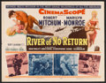 "Movie Posters:Adventure, River of No Return (20th Century Fox, 1954). Half Sheet (22"" X28""). Adventure.. ..."