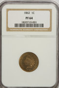 Proof Indian Cents: , 1862 1C PR64 NGC. NGC Census: (98/106). PCGS Population (133/109). Mintage: 550. Numismedia Wsl. Price for NGC/PCGS coin in...