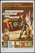 """Movie Posters:Science Fiction, Robinson Crusoe On Mars (Paramount, 1964). One Sheet (27"""" X 41"""").Science Fiction.. ..."""