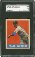 Baseball Cards:Singles (1940-1949), 1948 Leaf Frank Overmire #17 SGC 84 NM 7....