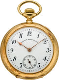 Timepieces:Pocket (post 1900), Vacheron & Constantin Lady's Gold Pendant Watch, circa 1910....