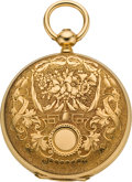 Timepieces:Pocket (pre 1900) , Ulysse Breting Mint Gold Pocket Watch, circa 1870. ...