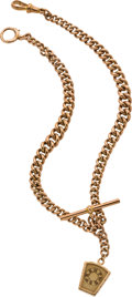 Timepieces:Watch Chains & Fobs, Gold Double Albert Watch Chain, circa 1880. ...