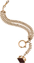 Timepieces:Watch Chains & Fobs, Unique Gold Watch Chain & Intaglio Fob, circa 1875. ...