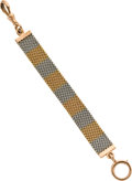 Timepieces:Watch Chains & Fobs, Two Tone Gold Mesh Fob, circa 1915. ...
