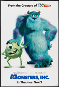"Movie Posters:Animated, Monsters, Inc. (Buena Vista, 2001). One Sheet (27"" X 40"") DS Advance. Animated.. ..."