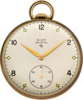 Timepieces:Pocket (post 1900), Elgin Deluxe Pocket Watch, circa 1949. ...