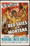 "Movie Posters:Adventure, Red Skies of Montana (20th Century Fox, 1952). One Sheet (27"" X41""). Adventure.. ..."