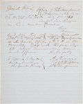 "Autographs:Military Figures, [John S. ""Rip"" Ford] Special Orders placing Ford under the commandof Major Samuel P. Heintzelman during operations against ..."