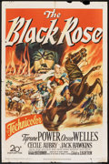 "Movie Posters:Adventure, The Black Rose (20th Century Fox, 1950). One Sheet (27"" X 41"").Adventure.. ..."