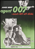 "Movie Posters:James Bond, Dr. No (United Artists, 1963). Swedish One Sheet (28"" X 39""). JamesBond.. ..."