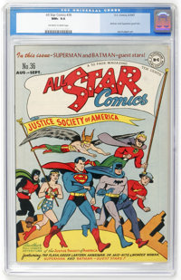 All Star Comics #36 (DC, 1947) CGC NM+ 9.6 Off-white to white pages